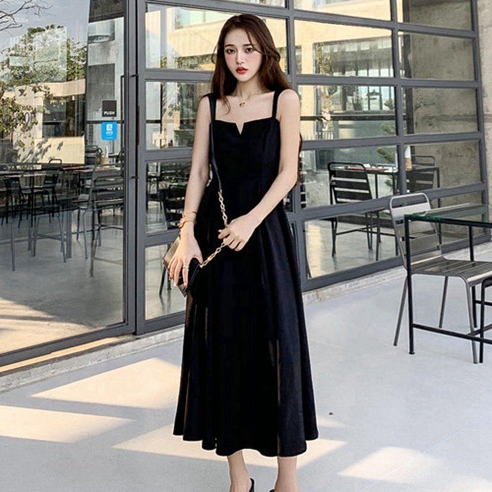 都市麗人修身顯瘦性感吊帶洋裝M-XL-Dorri
