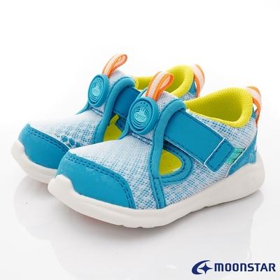 日本月星頂級童鞋-可機洗系列超透氣涼爽鞋ON289藍綠(寶寶段)
