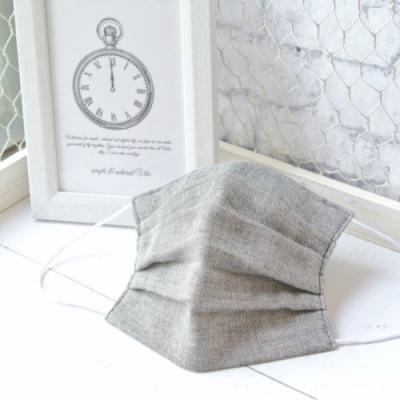 TEMARIYA 日本製 可水洗手作立體口罩L(素色)-淺黑
