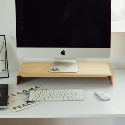 完美主義 新一代LCD木紋質感螢幕架/桌上架-2入組(2色)