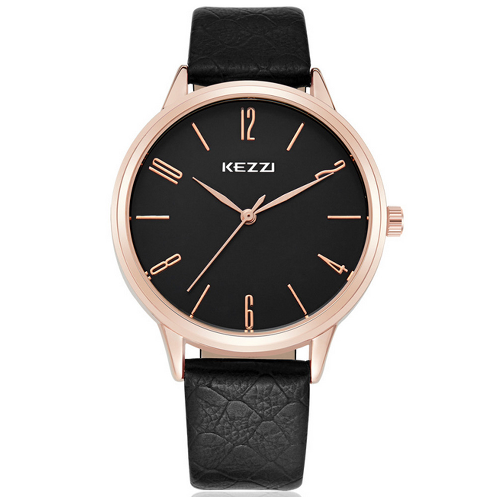 KEZZI 珂紫1035-簡潔實用經典指針手錶 (2色任選)