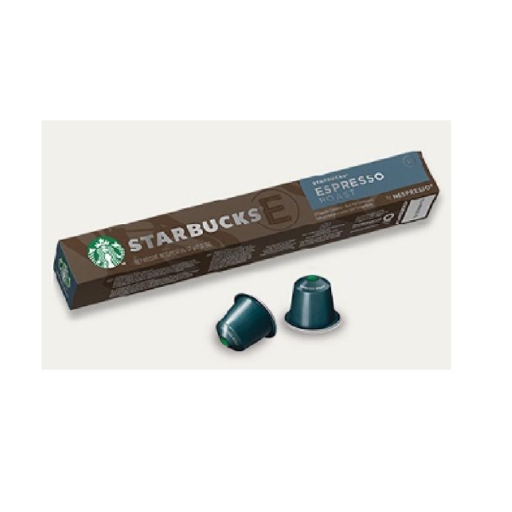 星巴克濃縮烘焙咖啡膠囊(10顆/盒;適用於Nespress o膠囊咖啡機)