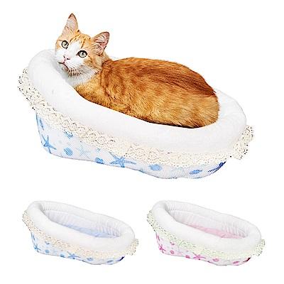 YSS 玉石冰雪纖維散熱冷涼感搖籃型加高寵物床墊/睡墊(2色)