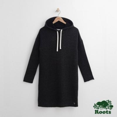 女裝Roots-休閒連帽洋裝-黑