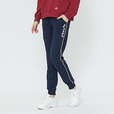 Hang Ten - 女裝 -滾邊線條束口褲-藍