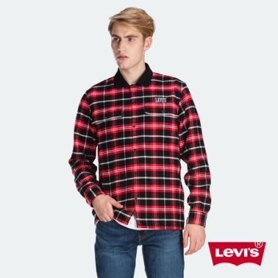 Levis 男款 法藍絨格紋襯衫 CNY限量系列 保暖科技 刺繡Logo