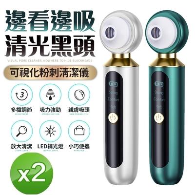 【2入組】FJ可視化黑頭毛孔清潔儀DR1(USB充電式)