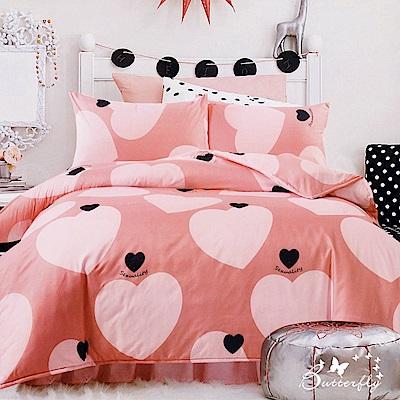 BUTTERFLY-多款-台製柔絲絨標準雙人薄式床包枕套三件式