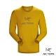 Arcteryx 始祖鳥 男 24系列 LOGO 百分百有機棉 長袖T恤 金黃棕 product thumbnail 2