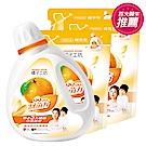 橘子工坊 天然濃縮洗衣精-制菌力 1+3組(1800mlx1瓶+1500mlx3包)