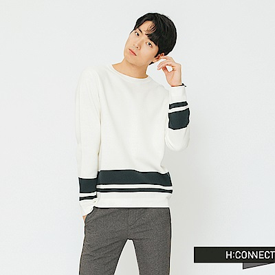 H:CONNECT 下擺條紋設計針織衫