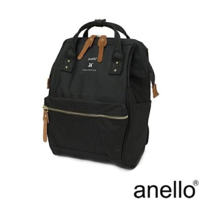 anello RE:MODEL 防潑水經典口金後背包 黑色 Small