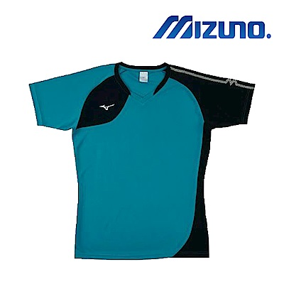 MIZUNO 美津濃 男女短袖排球T恤 綠 V2TA8G1632