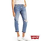 Levis 女款男友褲 中腰寬鬆版牛仔長褲 Boyfriend Fit 刷破