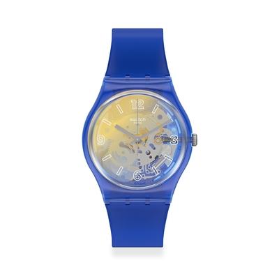 Swatch Gent 原創系列 YELLOW DISCO FEVER 藍色狂熱(34mm)