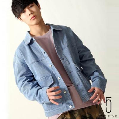 寬版牛仔外套背面印刷 (14色) -ZIP日本男裝