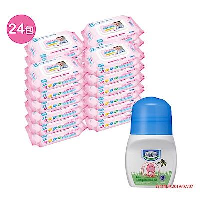 貝比Q EDI超厚超純水柔濕巾量販特價組(箱)(無香料)/贈貝恩嬰兒防蚊滾珠凝露50ML