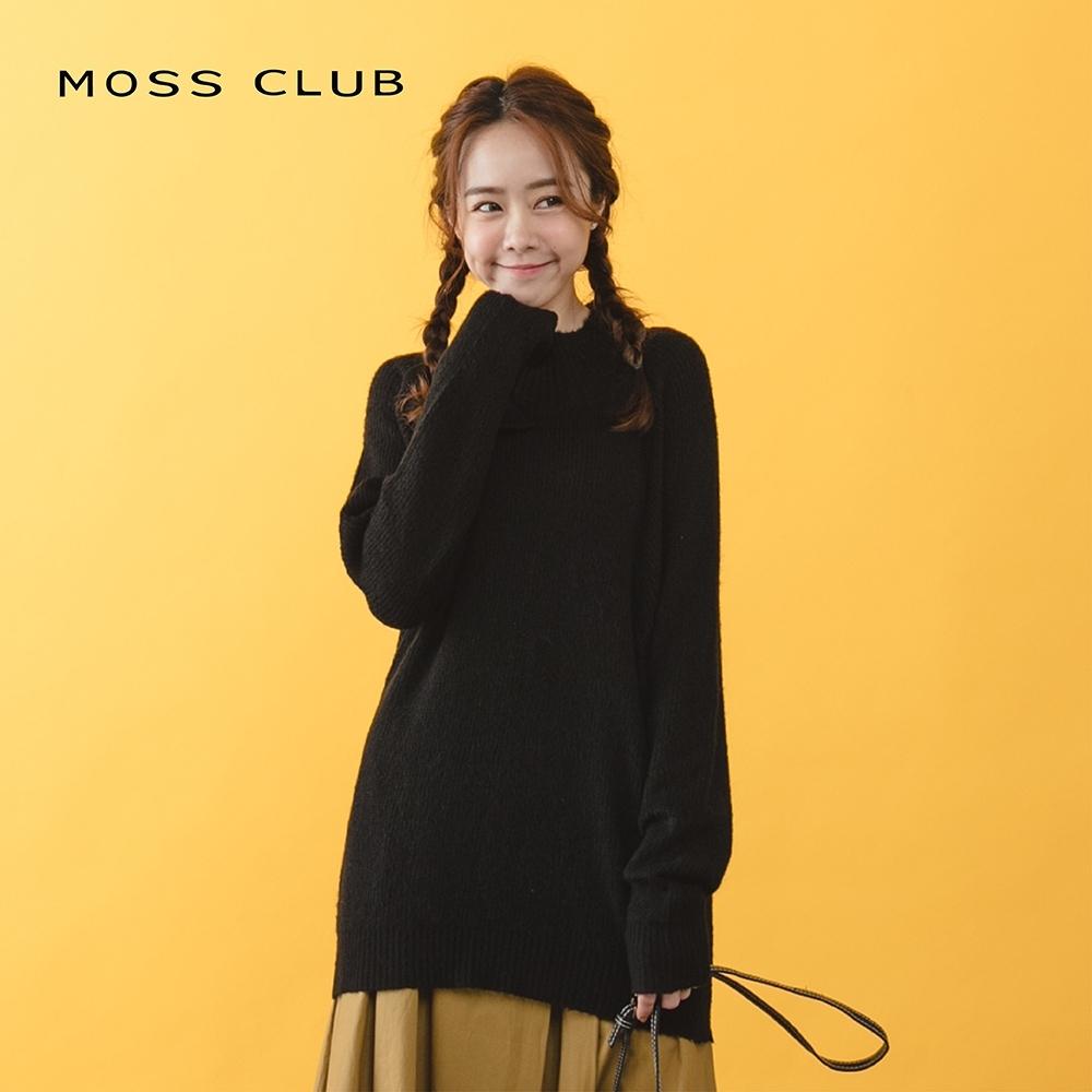 【MOSS CLUB】簡約設計款造型-針織衫(黑色)