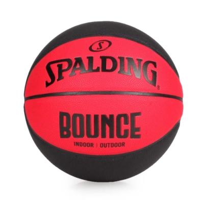 SPALDING Bounce 籃球-PU #7 紅黑