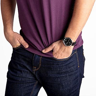 CALVIN KLEIN even 超然系列手錶-黑x皮錶帶/42mm