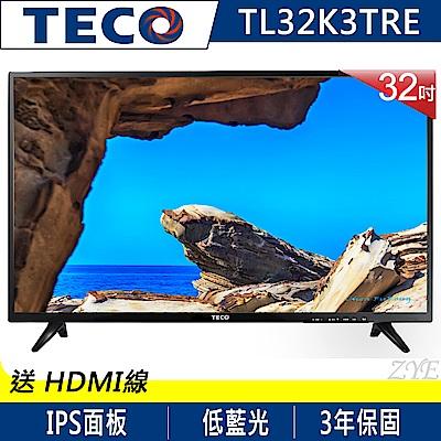 TECO東元32吋低藍光液晶顯示器視訊盒TL32K3TRE