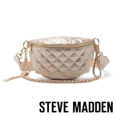 STEVE MADDEN-BMANDIE 金屬鍊條菱格個性腰包-金色