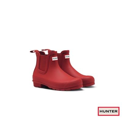 HUNTER - 女鞋 - 切爾西霧面踝靴 - 軍紅