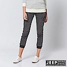 JEEP 女裝 復古休閒口袋束口牛仔長褲 -鐵灰色