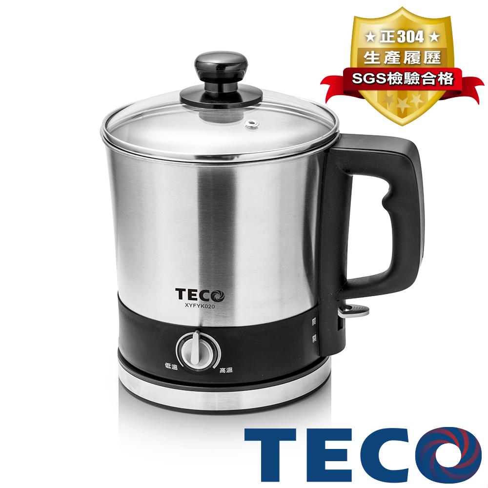 【品牌週】TECO東元 304不鏽鋼快煮美食鍋 XYFYK020