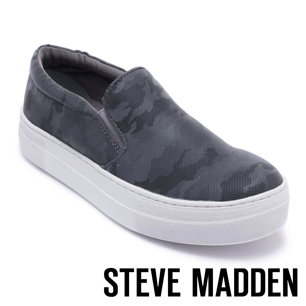 STEVE MADDEN-GILLS特殊紋平底懶人鞋-灰色