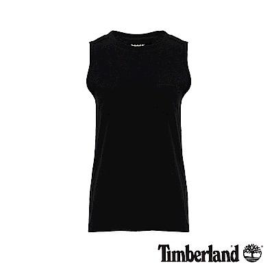 Timberland 女款黑色無袖口袋長版背心|B3516
