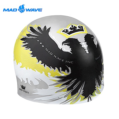 俄羅斯 邁俄威 成人矽膠泳帽 黃白色 MADWAVE EMPIRE