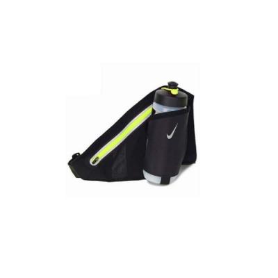 NIKE 運動水壺腰包附1水壺 黑螢光綠