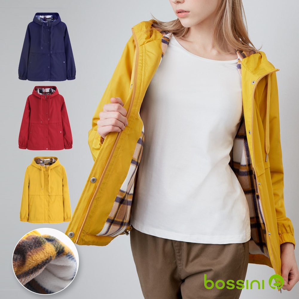 [時時樂限定]bossini女裝-連帽防風保暖外套(三色選)