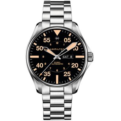 Hamilton Khaki Pilot  DAY DATE機械錶(H64725131)