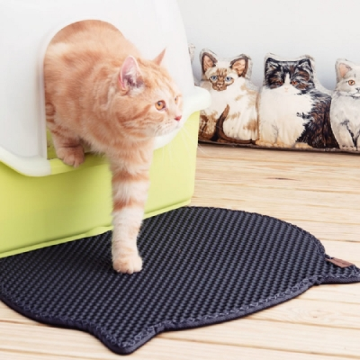 國際貓家-韓國Blackhole Litter Mat 專利 落貓砂墊 -可愛貓咪