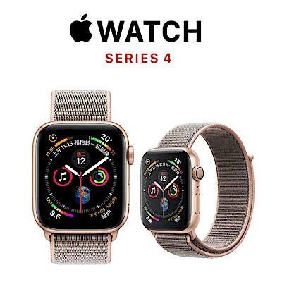 Apple Watch Series 4 GPS 44mm 金色鋁金屬錶殼搭粉沙色運動錶環 @ Y!購物