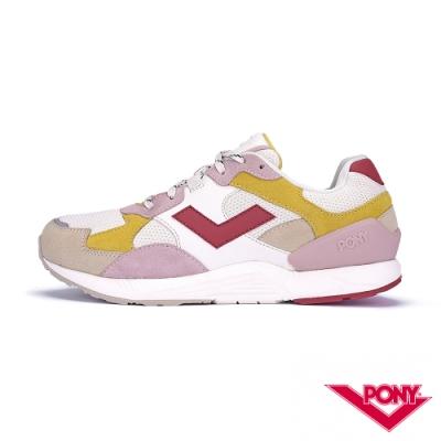 【PONY】BOUNCE系列-復古運動鞋 厚底老爹鞋 潮流 球鞋 女 粉