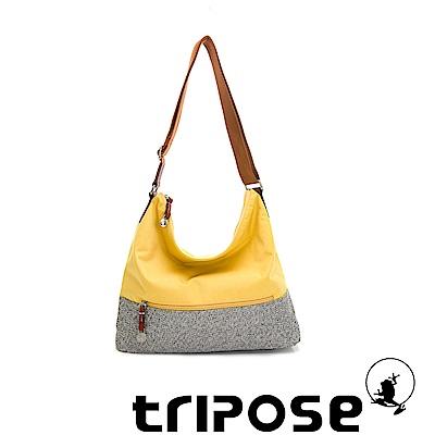 tripose 漫遊系列岩紋輕巧側肩背包 黃