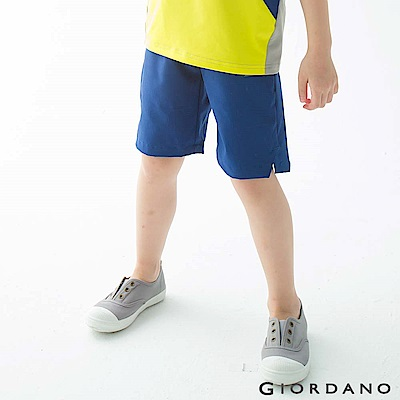GIORDANO 童裝G-MOTION吸濕排汗運動短褲-62 海底藍