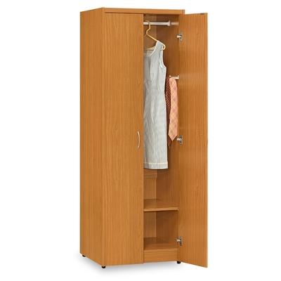 時尚屋 愛瑪2尺雙門單吊衣櫃 寬60x深58x高180公分