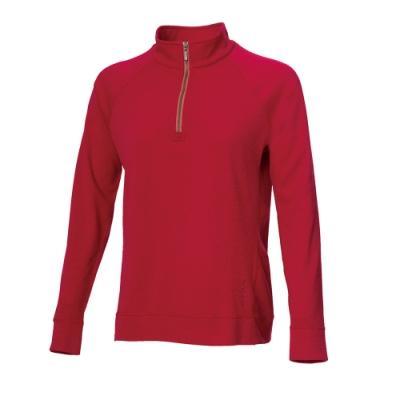 【WILDLAND荒野】女彈性針織麻花時尚上衣20玫瑰紅