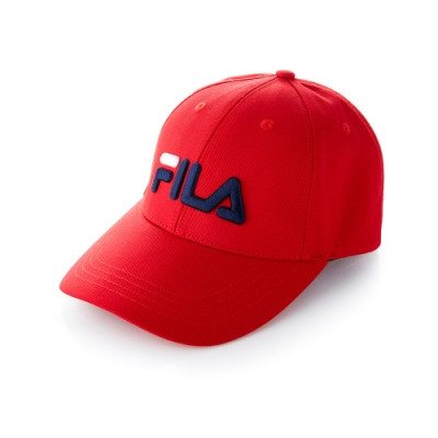 FILA 經典款六片帽-紅 HTT-5000-RD