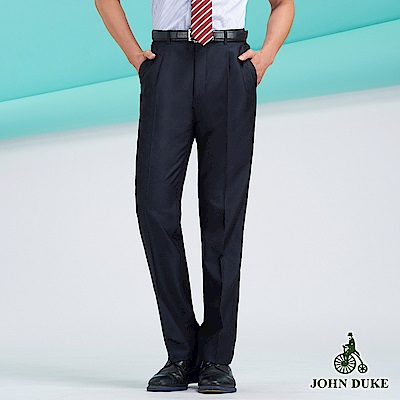 JOHN DUKE經典涼感長褲_深藍/條紋(11-8B506)