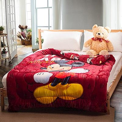 Disney 迪士尼  米奇-紅 加厚法萊絨暖暖被(150x200cm)