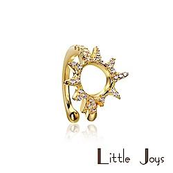 Little Joys 原創設計品牌 Sun Zircon 小太陽鋯石耳夾 925銀鍍金