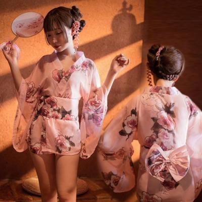 睡衣-日式開襟和服-EM衣柔魅姬(櫻花粉)