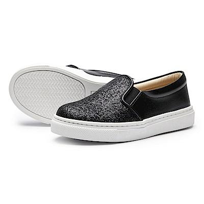 BuyGlasses 星河拼接質感懶人鞋-黑