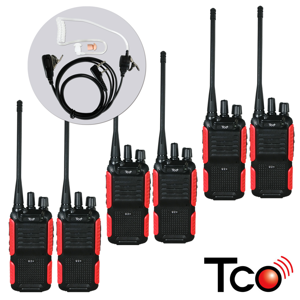 TCO 專業導管無線對講機 (6入裝) TCOU2+ x3