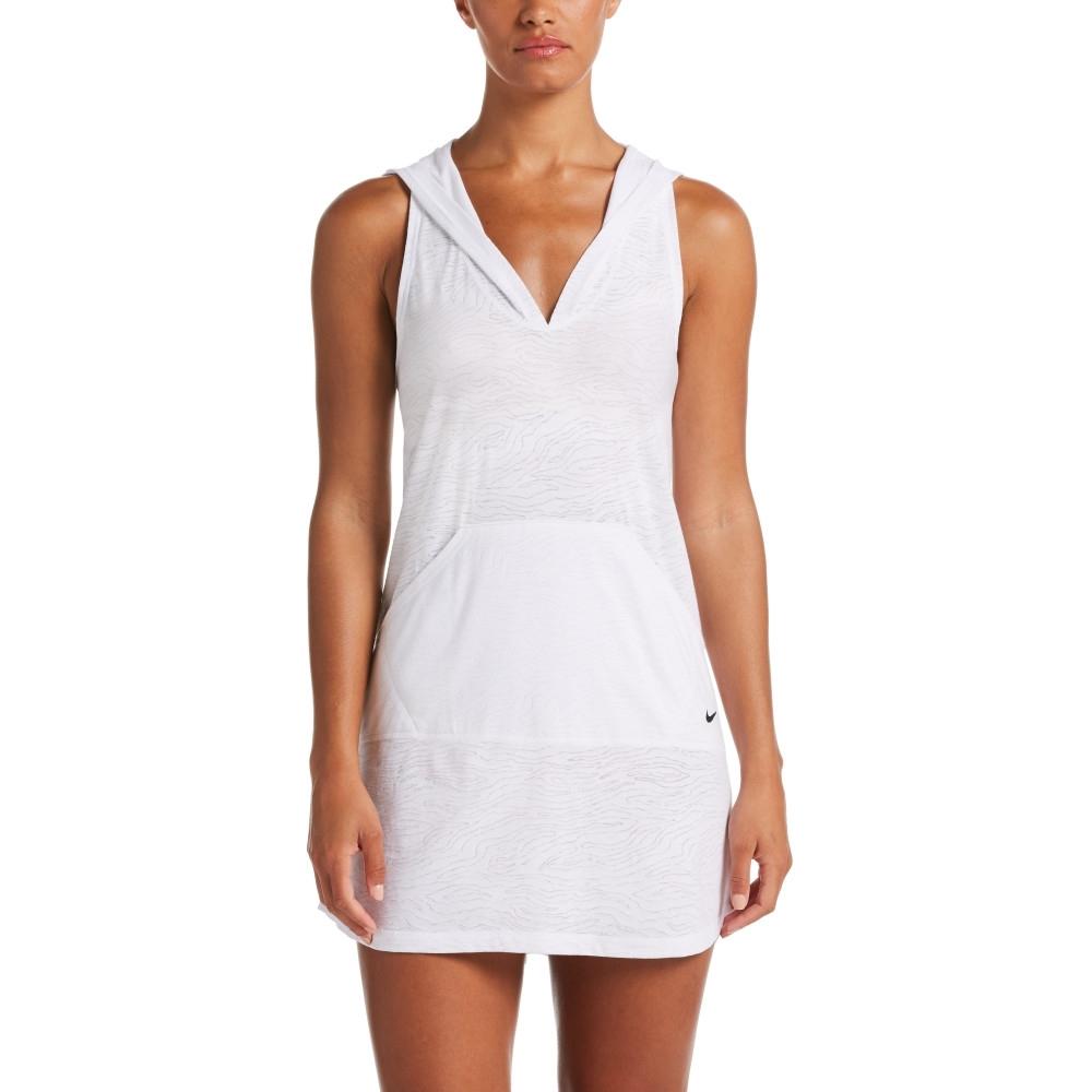 NIKE 女泳裝 成人 長版 罩衫 白 NESSA380-100